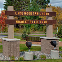 Lake Wood Trail Head - Nicolet National Forest: Photos courtesy of Oconto County